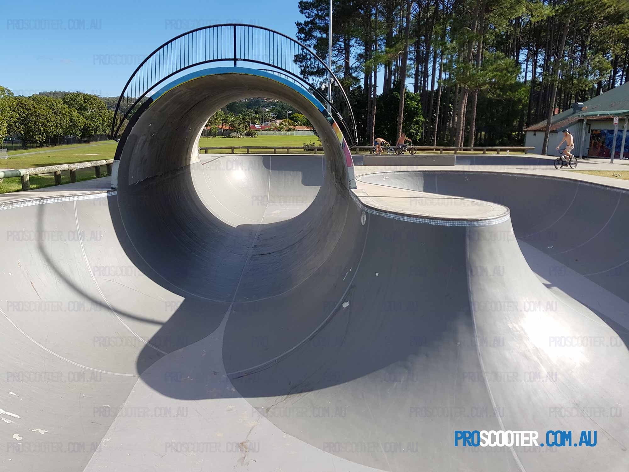 Elanora Skate Park Full Pipe from corner