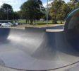 Elanora Skatepark Deep end and full pipe