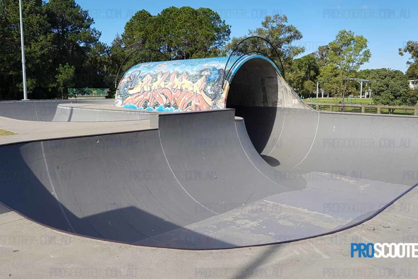 Looking from the Deep at Elanora Scooter Park