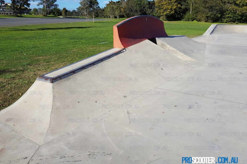 Mudgeeraba Skate Park banks to wall ride