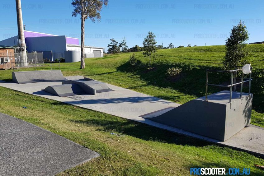Second section at Runaway Bay Skate Park