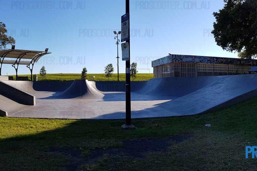 Looking over Runaway Bay Skate Park