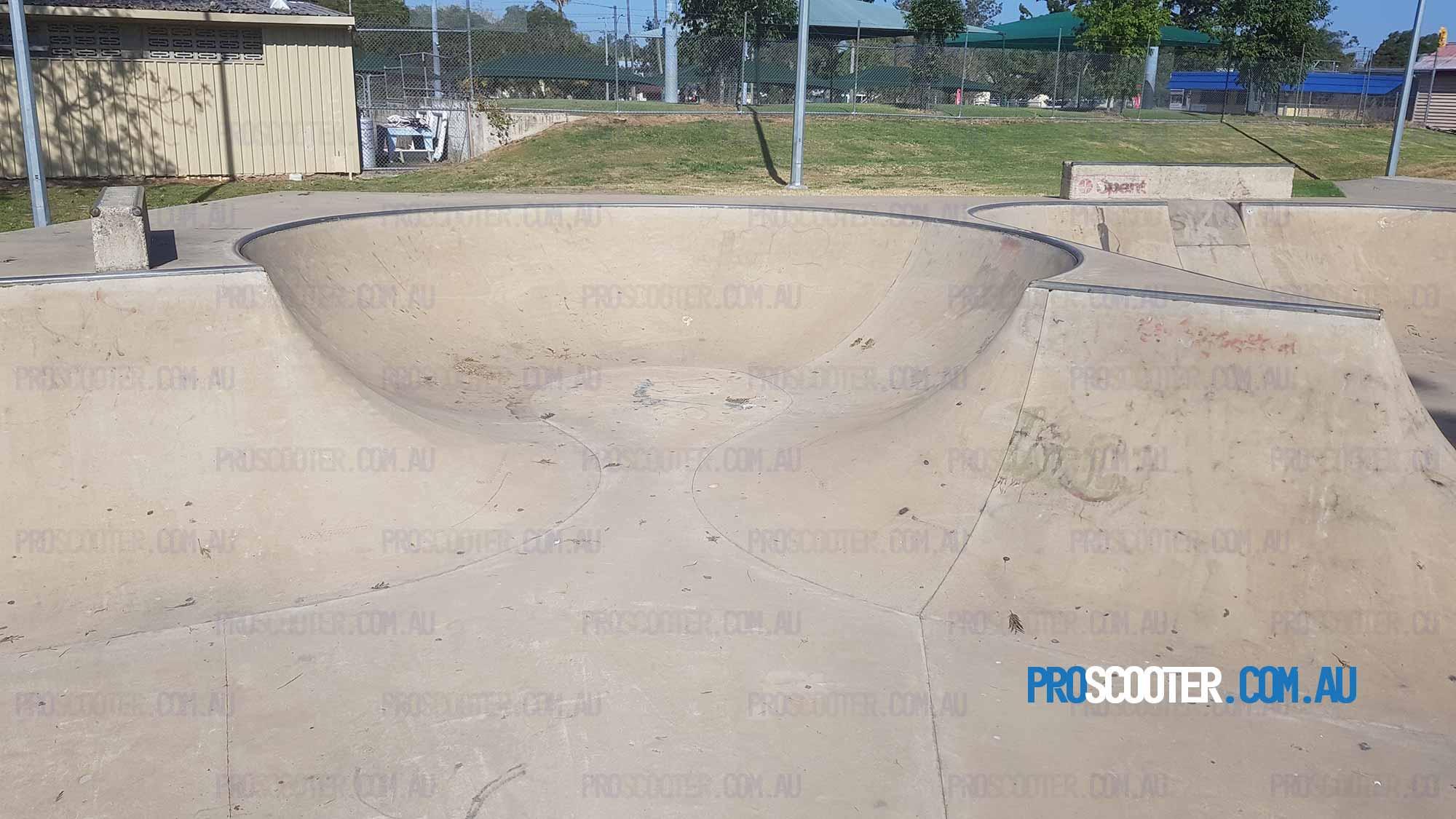 Beaudesert Skatepark round bowl