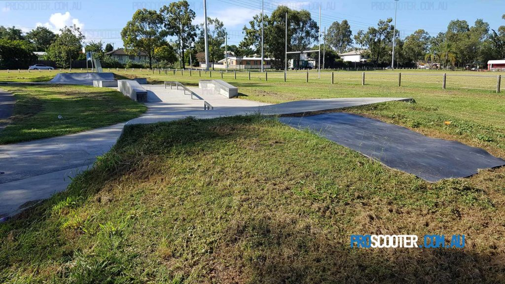 Looking over Carole Park Skate Park