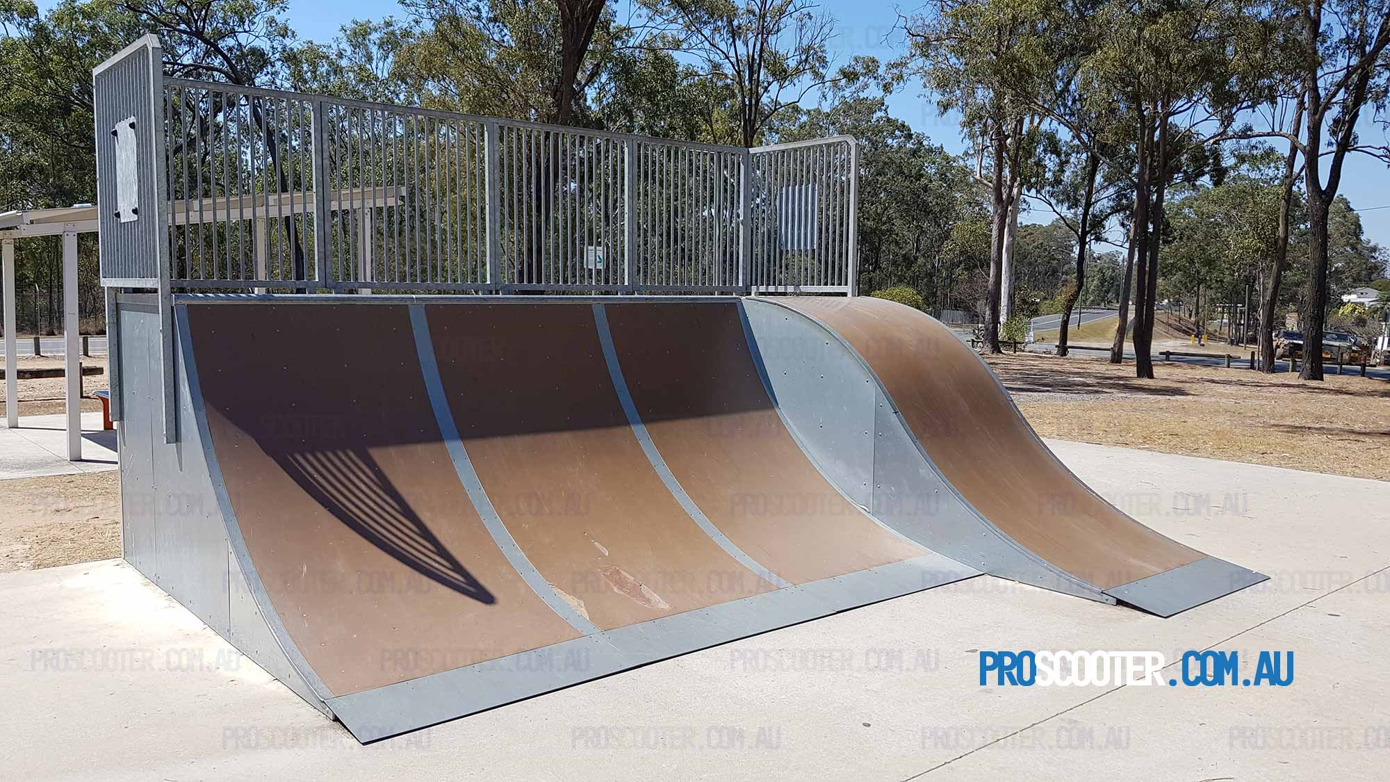 Quarter pipe and roll-in at Greenbank Skatepark