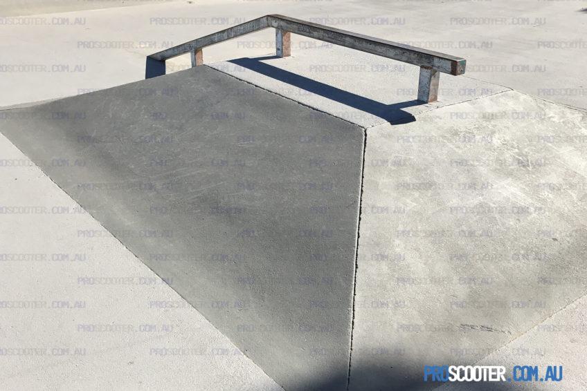 kinked rail and pyramid moorooka skate park